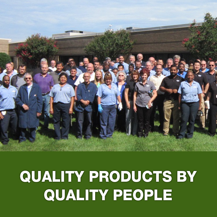 Quality products by quality people